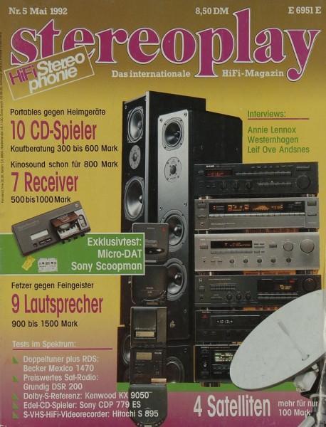 Stereoplay 5/1992 Zeitschrift