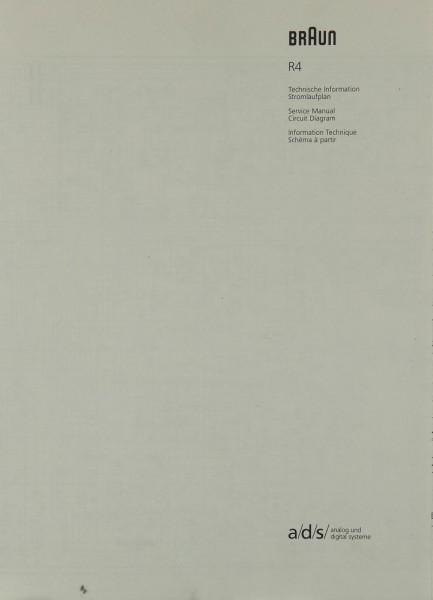 Braun R 4 Schaltplan / Serviceunterlagen