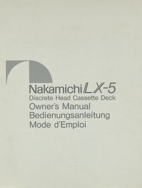 Nakamichi LX-5 Bedienungsanleitung