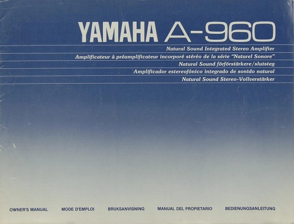 Yamaha A-960 Bedienungsanleitung