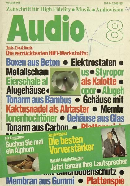 Audio 8/1978 Zeitschrift