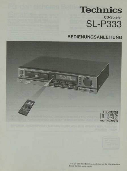 Technics SL-P 333 Bedienungsanleitung