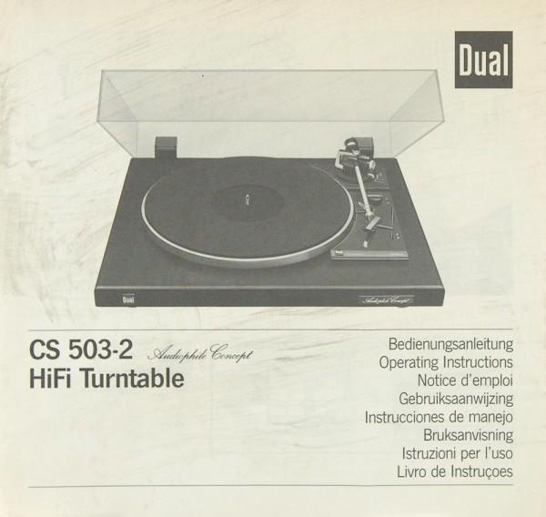 Dual CS 503-2 Bedienungsanleitung