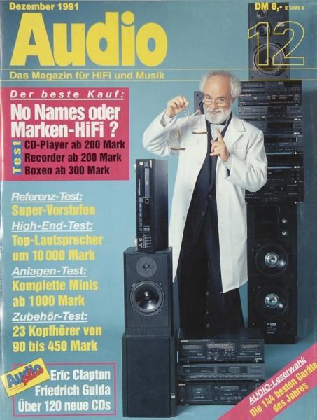 Audio 12/1991 Zeitschrift