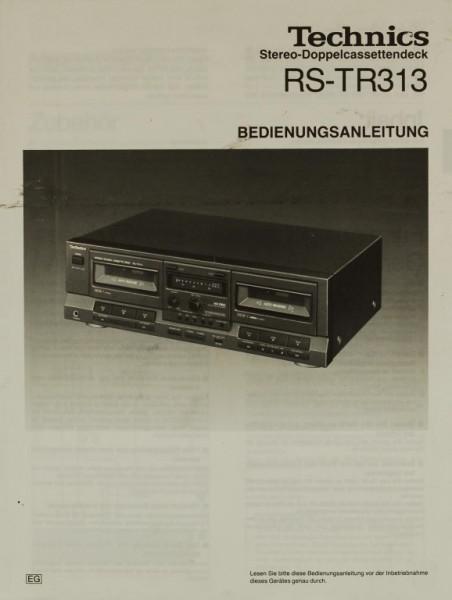 Technics RS-TR 313 Bedienungsanleitung