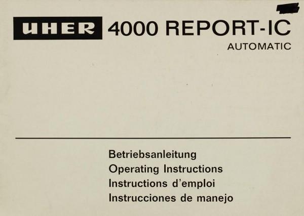 Uher 4000 Report-IC Bedienungsanleitung