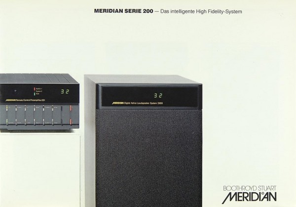 Meridian Serie 200 Prospekt / Katalog