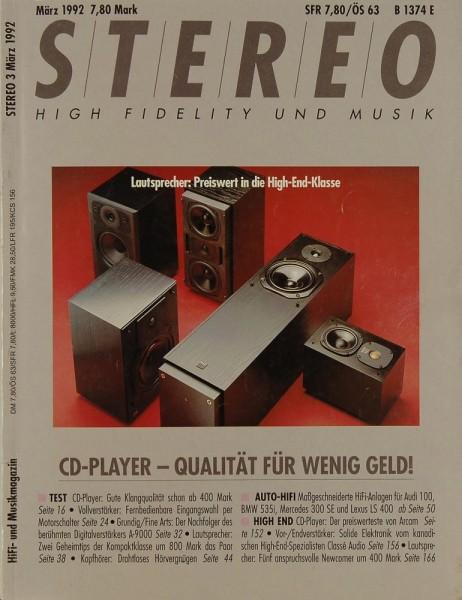 Stereo 3/1992 Zeitschrift
