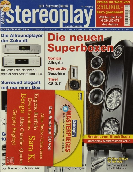 Stereoplay 1/2008 Zeitschrift