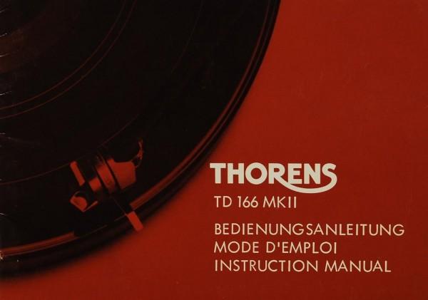 Thorens TD 166 MK II Bedienungsanleitung