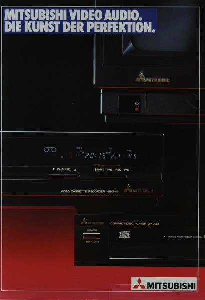 Mitsubishi Video Audio. Die Kunst der Perfektion. Prospekt / Katalog