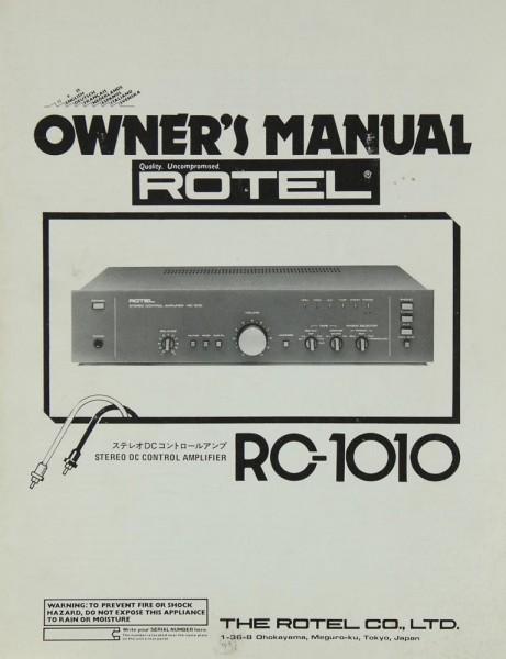 Rotel RC-1010 Bedienungsanleitung