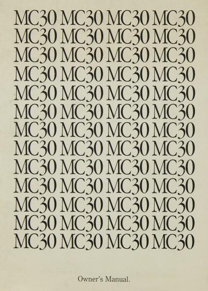 Ortofon MC 30 Bedienungsanleitung