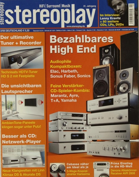 Stereoplay 2/2008 Zeitschrift