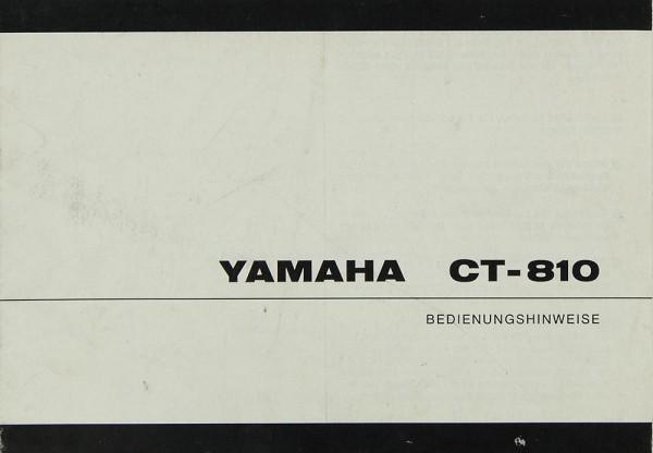 Yamaha CT-810 Bedienungsanleitung