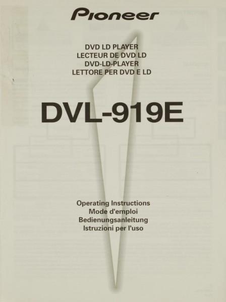 Pioneer DVL-919 E Bedienungsanleitung