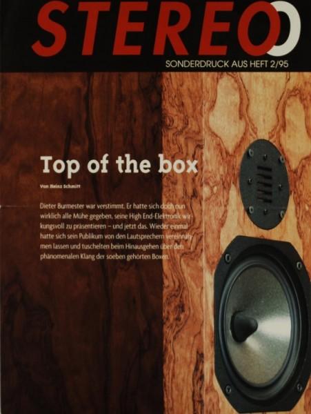 Burmester Top of the Box Testnachdruck