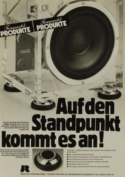 JR Transrotor Jumbo Speaker Pucks Prospekt / Katalog