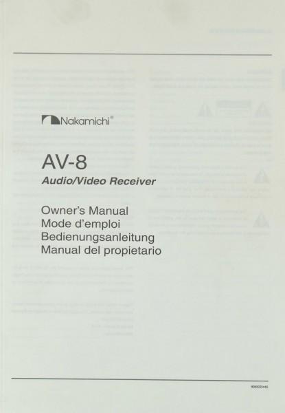 Nakamichi AV-8 Bedienungsanleitung