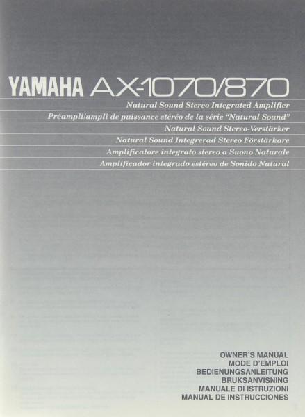 Yamaha AX-1070 / AX-870 Bedienungsanleitung