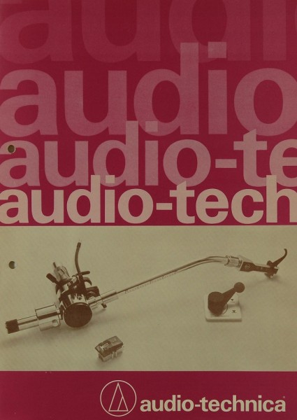 Audio-Technica Produktübersicht Prospekt / Katalog
