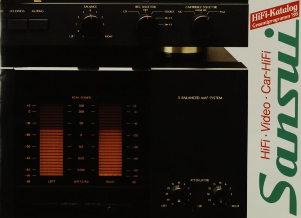 Sansui Gesamtkatalog ´86 - HiFi. Video. Car-HiFi. Prospekt / Katalog