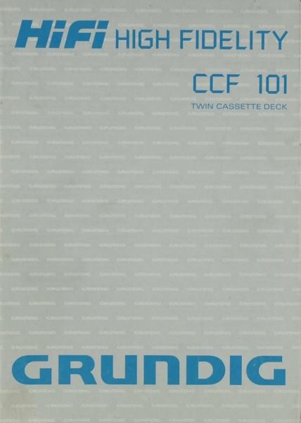 Grundig CCF 101 Bedienungsanleitung