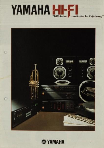 Yamaha Yamaha Hi-Fi - 100 Jahre musikalische Erfahrung Prospekt / Katalog
