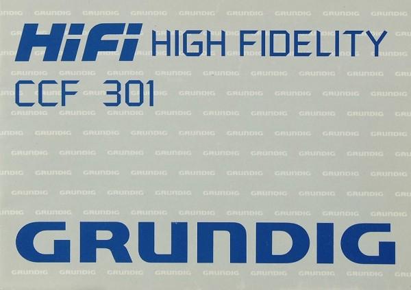 Grundig CCF 301 Bedienungsanleitung