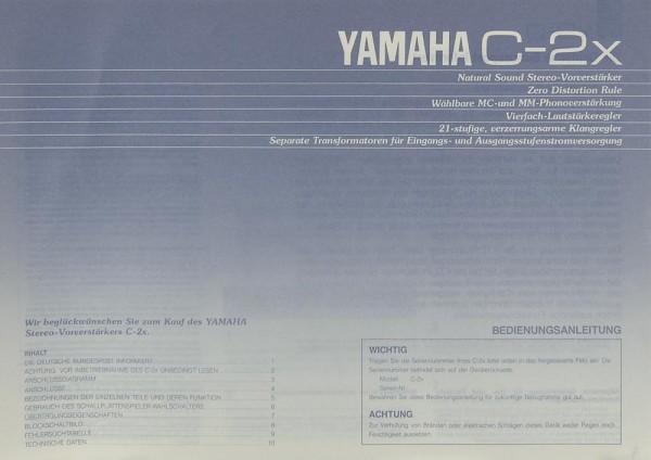 Yamaha C-2 x Bedienungsanleitung