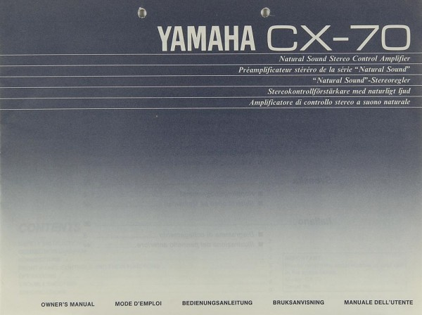 Yamaha CX-70 Bedienungsanleitung