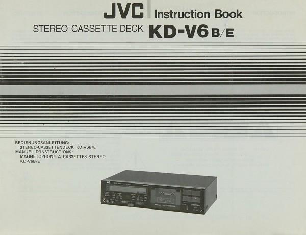 JVC KD-V 6 B/E Bedienungsanleitung