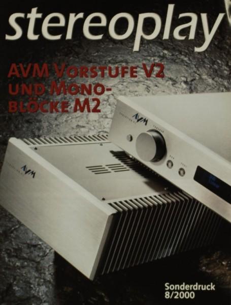 AVM Vorstufe V 2 / Mono-Blöcke M 2 Testnachdruck