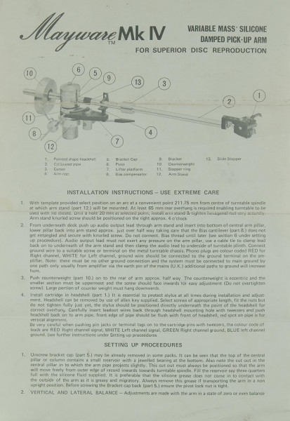 Mayware Mk IV Bedienungsanleitung