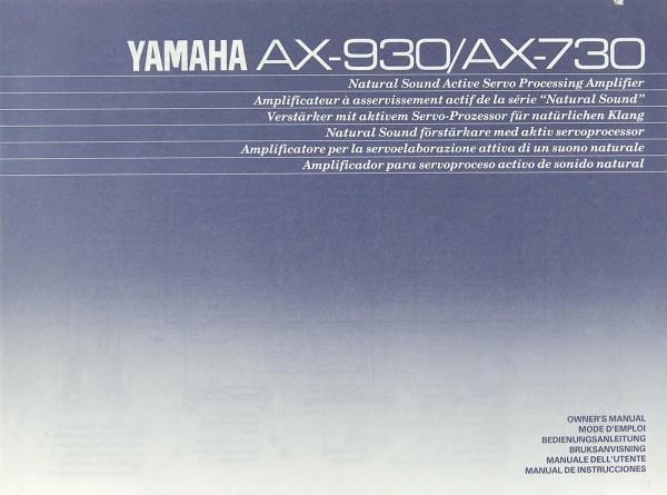 Yamaha AX-930 / AX-730 Bedienungsanleitung