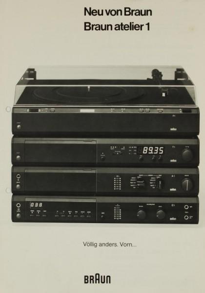 Braun Neu von Braun - Braun atelier Prospekt / Katalog