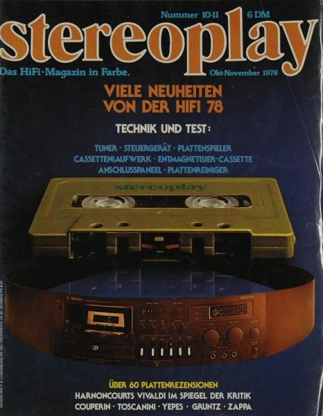 Stereoplay 10/11 / 1978 Zeitschrift