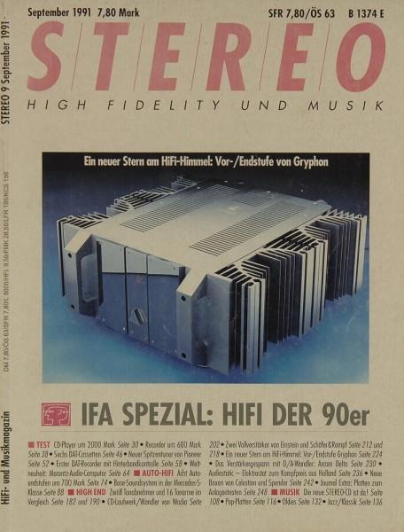 Stereo 9/1991 Zeitschrift