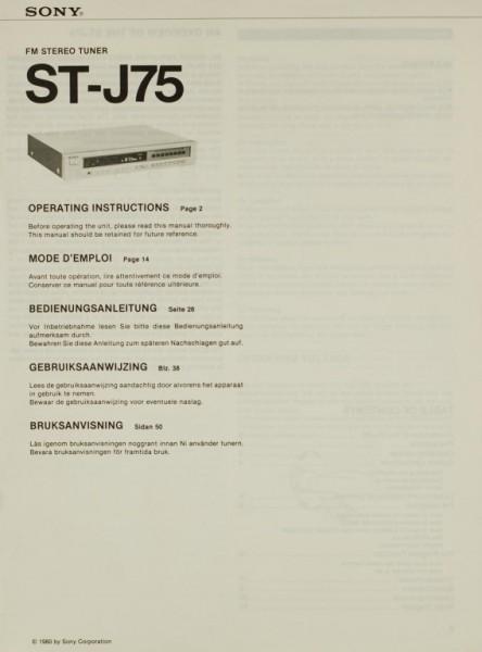 Sony ST-J 75 Bedienungsanleitung