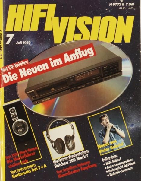 Hifi Vision 7/1989 Zeitschrift