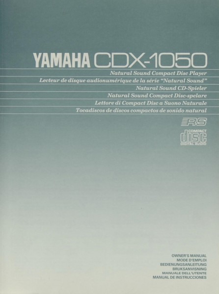 Yamaha CDX-1050 Bedienungsanleitung