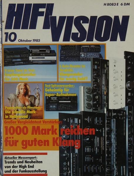 Hifi Vision 10/1985 Zeitschrift