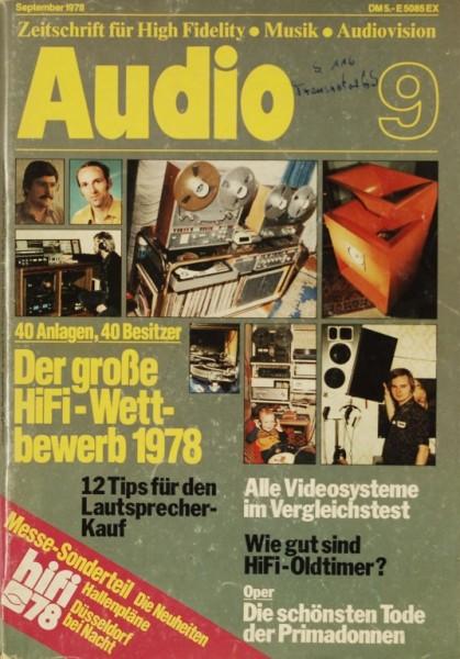 Audio 9/1978 Zeitschrift