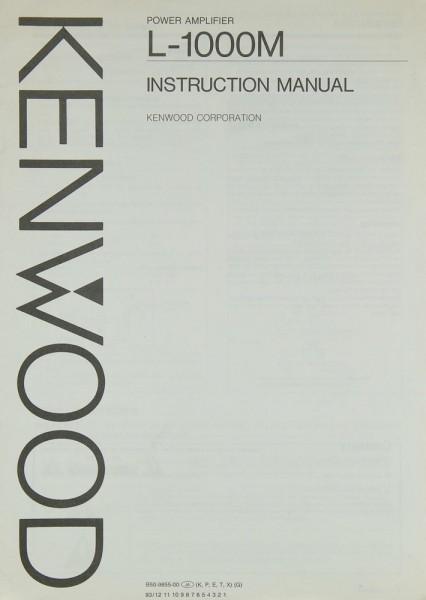 Kenwood L-1000 M Bedienungsanleitung