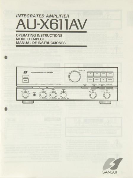 Sansui AU-X 611 AV Bedienungsanleitung
