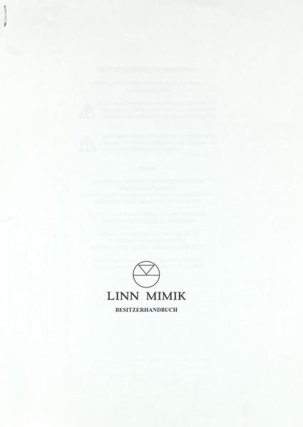 Linn Mimik Bedienungsanleitung