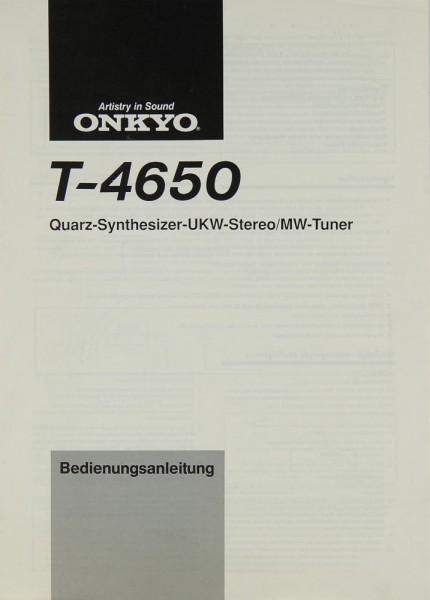 Onkyo T-4650 Bedienungsanleitung