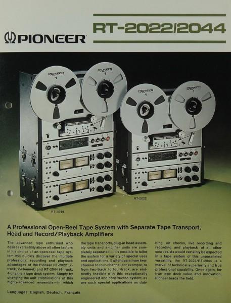 Pioneer RT-2022 / RT-2044 Prospekt / Katalog