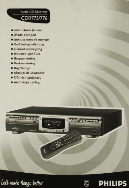 Philips CDR 775/776 Bedienungsanleitung