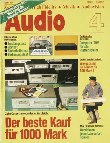 Audio 4/1981 Zeitschrift